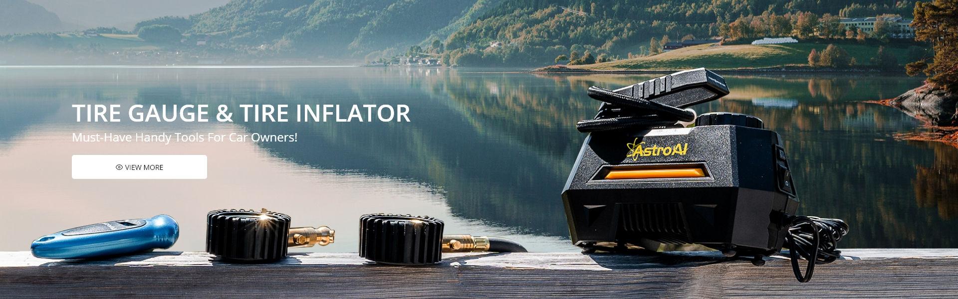 Tire Gauge & Tire Inflator